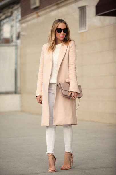 coat long trench coat classy pastel shoes