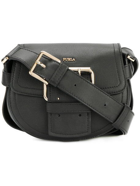 Furla mini women bag shoulder bag leather black