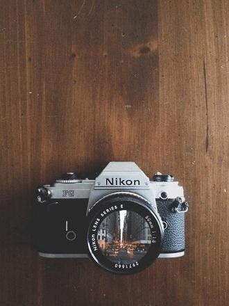 home accessory camera nikon vintage photography black grey