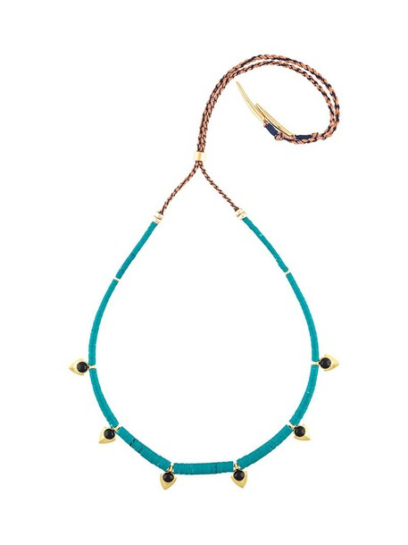 LIZZIE FORTUNATO JEWELS women necklace gold blue jewels