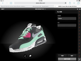 shoes teal grey air max nike air max 90