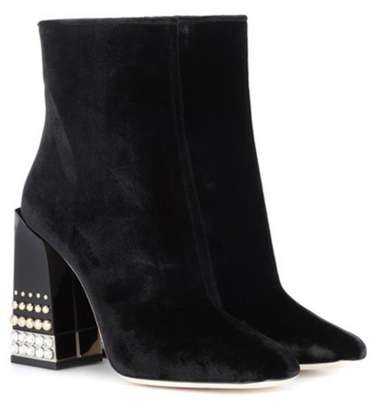 Dolce & Gabbana velvet ankle boots ankle boots velvet black shoes