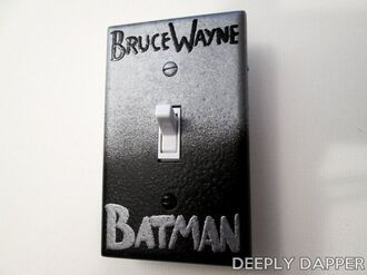 home accessory light switch batman