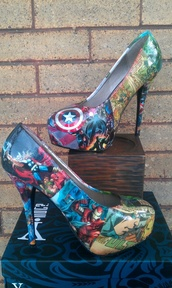 shoes,The Avengers,heels,marvel,high heels