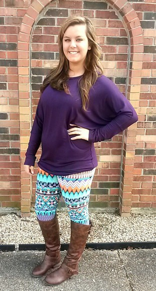 pants shirt printed leggings aztec leggings aztec zig zag print