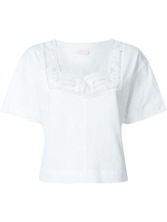 blouse embroidered lace white top