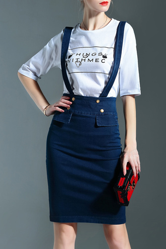 dress dezzal denim summer fashion style bodycon casual streetstyle