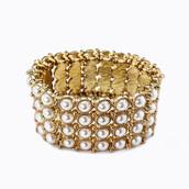 jewels,pearl links bracelet - white,links bracelet - white