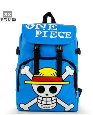 anime one piece soft PU bags for men and women sports leisure backpack bag free shipping-in Casual Daypacks from Luggage & Bags on Aliexpress.com