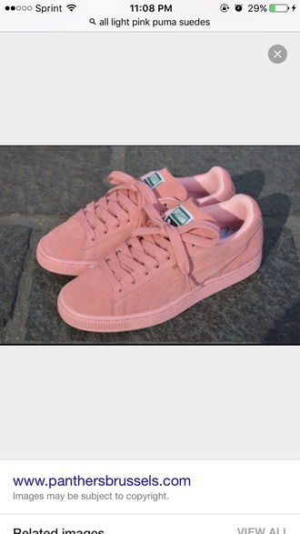 shoes suede puma puma light pink sneakers pink sneakers suede sneakers