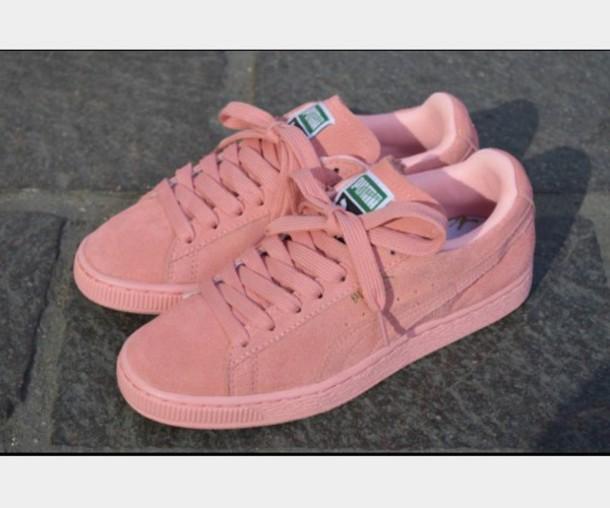 light pink puma suedes