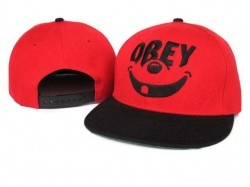 Obey Snapback Hat&Cap Red-Black Cheap [Obey020] - $7.50 :