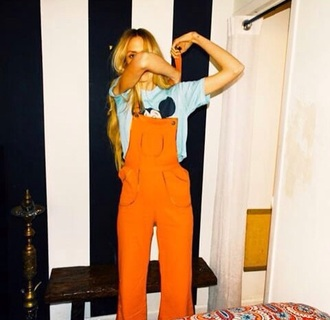 jumpsuit orange beyonce alternative grunge hipster fashion