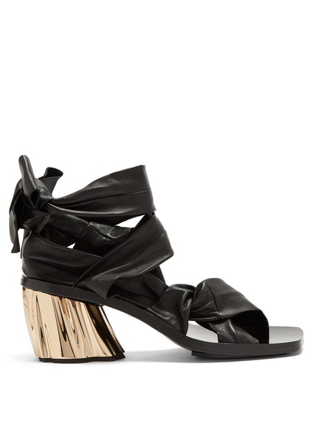 Proenza Schouler heel sandals leather sandals leather black shoes