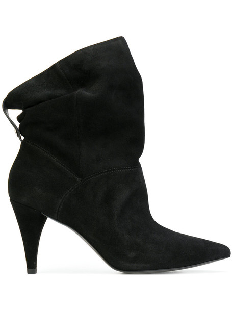 Michael Kors women ankle boots leather black shoes