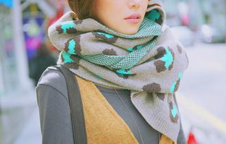 scarf leopard print blue scarf grey scarf brown scarf