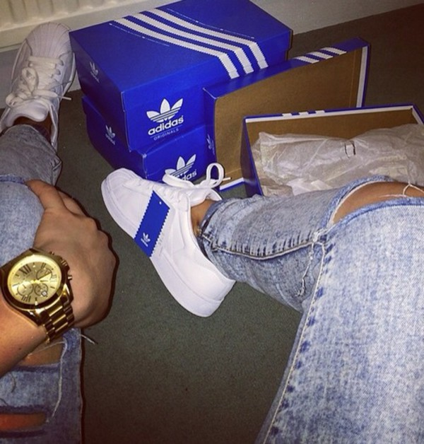 shoes white adidas shoes jeans