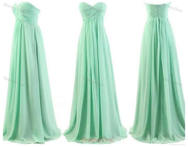 dress teal long dress