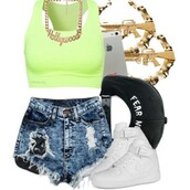 shorts,swag,snapback,crop tops,hollywood,streetwear,shoes,shirt,jewels,hat