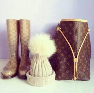 shoes gucci bag handbag boots wellies louis vuitton hat