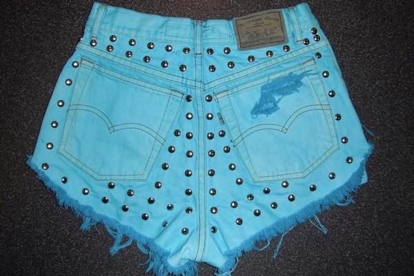 shorts ombre bleach dye