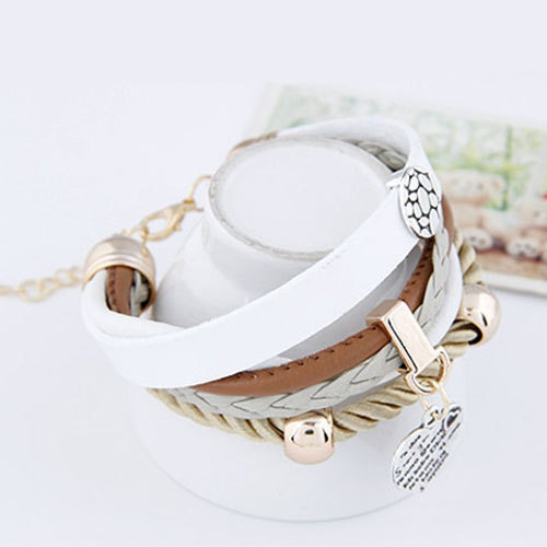 [grxjy51201223]Fashion Peach Heart Pendant Multi-layer String Bracelet