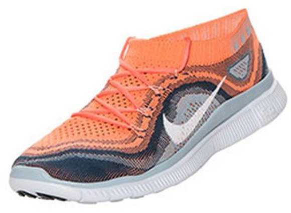 shoes sneakers nike orange shoes orange nike running shoes nike sneakers nike flyknit coral nike free run fashion style flyknit trainer free love want want want