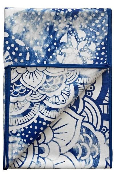02839f396c6a6 home accessory yoga towel blue print towel vagabond goods white bikiniluxe