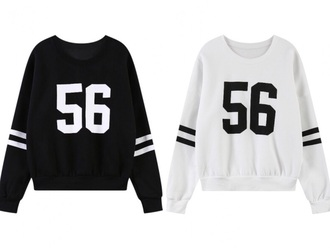sweater white black numbers