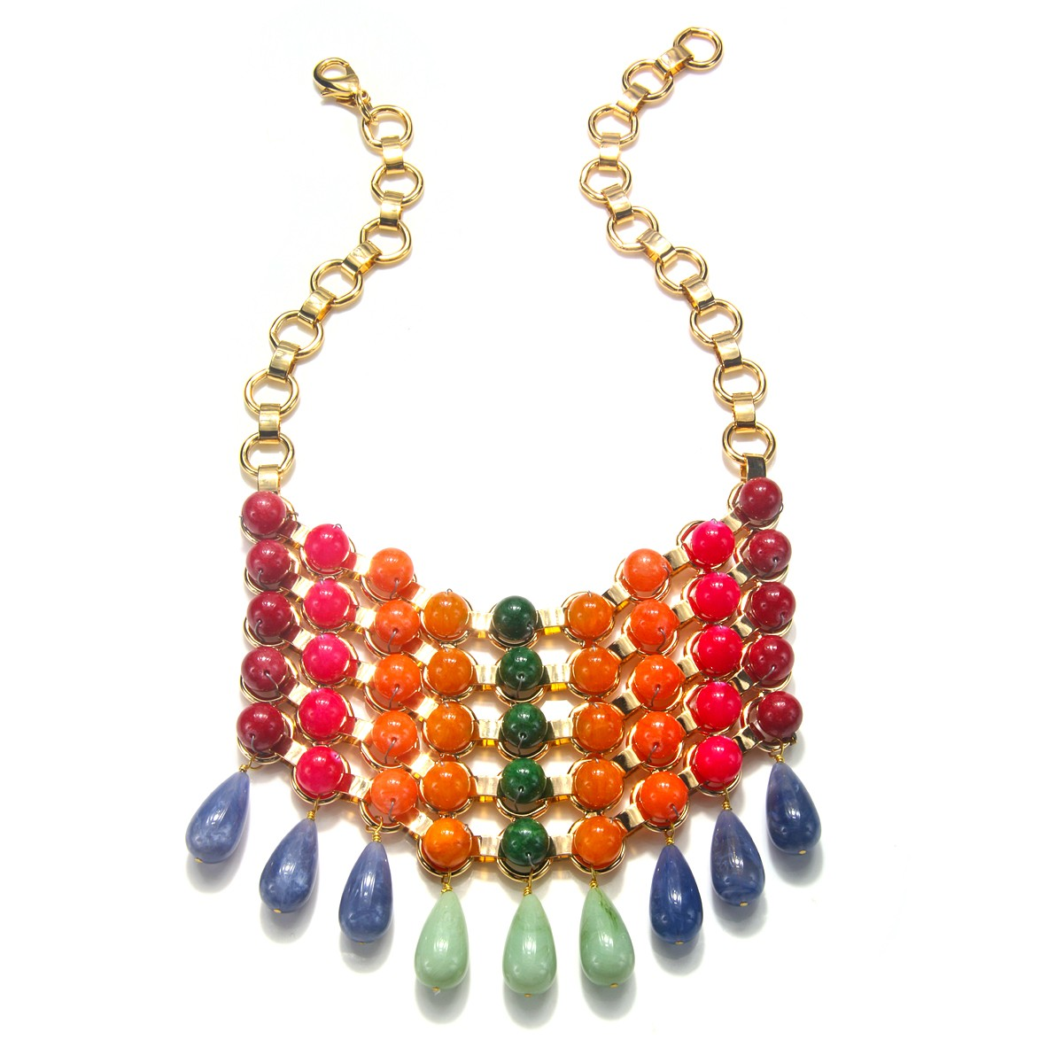 Gradient Bib Necklace  by DANNIJO | Charm & Chain