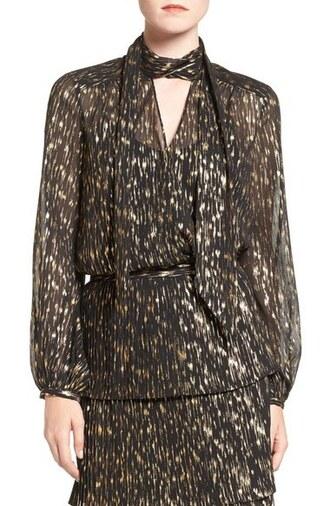 blouse olivia palermo chiffon