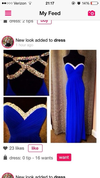dress prom blue dress diamonds