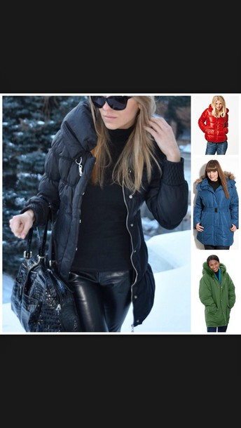 coat black puffer coat