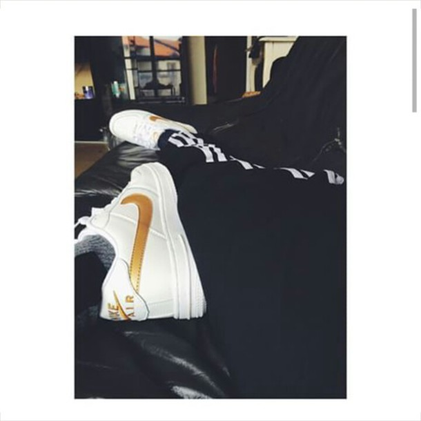 shoes nike air force 1 gold gold sequins white forces nike air max