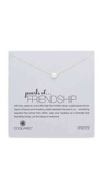 friendship necklace pearl necklace silver jewels