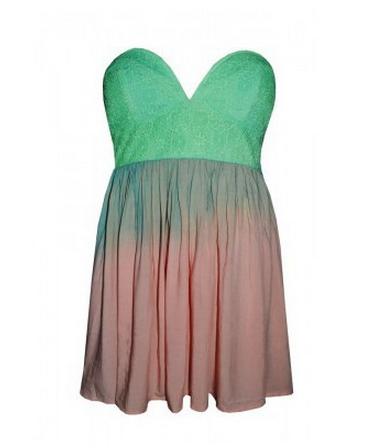 Hot gradient green dress