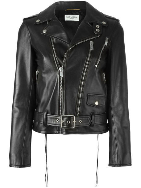 Saint Laurent jacket women classic cotton black