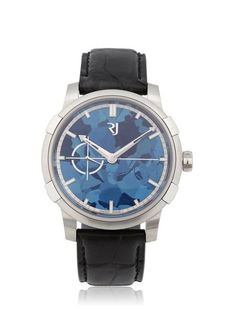 ROMAIN JEROME metal watch blue black jewels