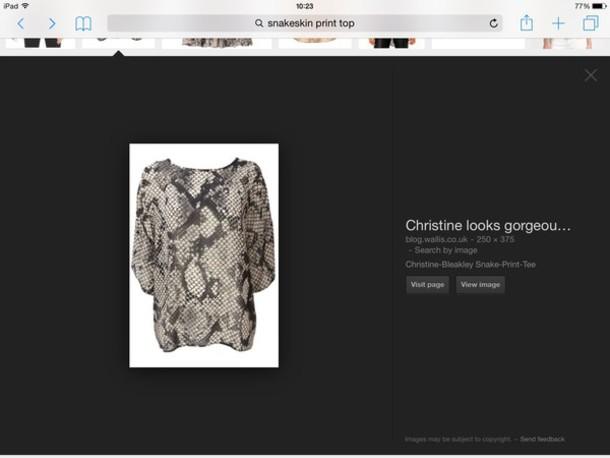 blouse brown snakeskin