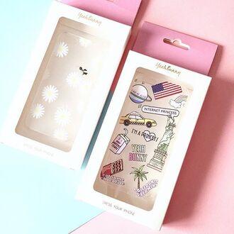 phone cover yeah bunny american flag daisy cute floral iphone cover iphone case iphone transparent