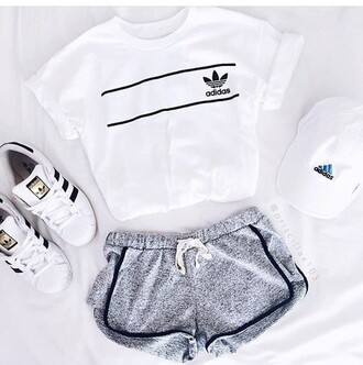shoes adidas sportswear adidas shoes adidas superstars cap fitness shirt girly top white t-shirt adidas tee shirt t-shirt adidas shirt logo