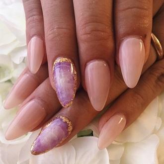 nail polish gemstone crystal stone lavender