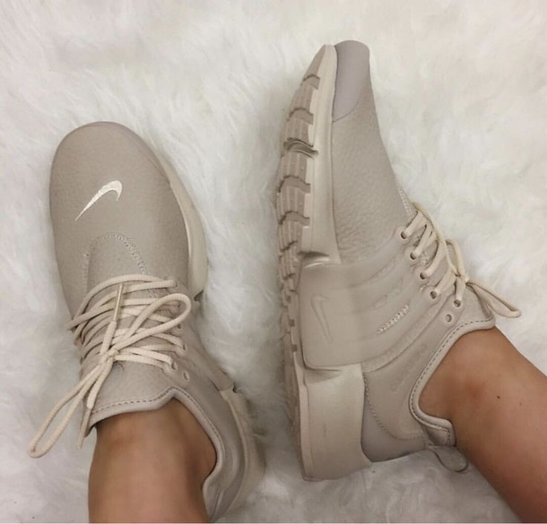shoes sneakers oatmeal nike air presto