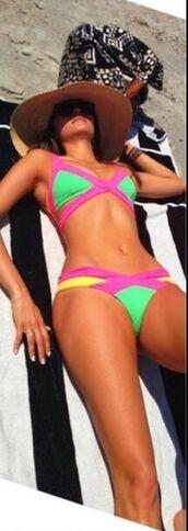 swimwear,nina dobrev,bikini,bandage,beach