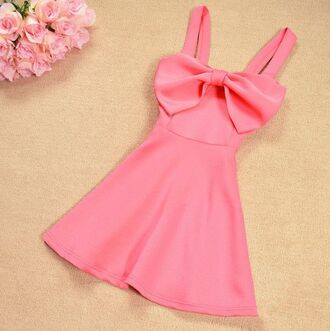 dress pink dress black dress cute dress sweetheart neckline bow dress