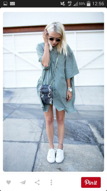 d51270780c dress blue white shirt shirt dress vintage hipster beautiful style flannel  shirt cute tumblr outfit pretty