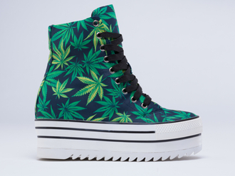shoes green dope black milk sneakers platform shoes