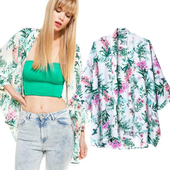 Mint & Soft Pink Kimono