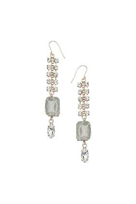Premium Net Effect Stone Earrings - Topshop