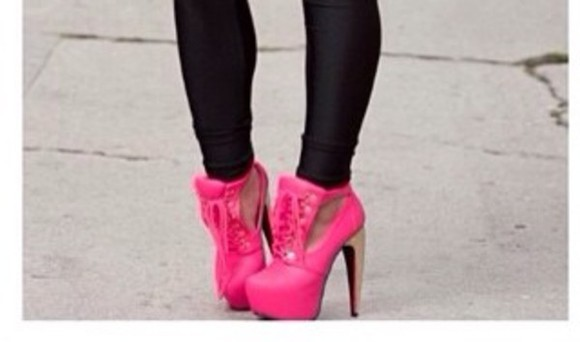 shoes platforms pink